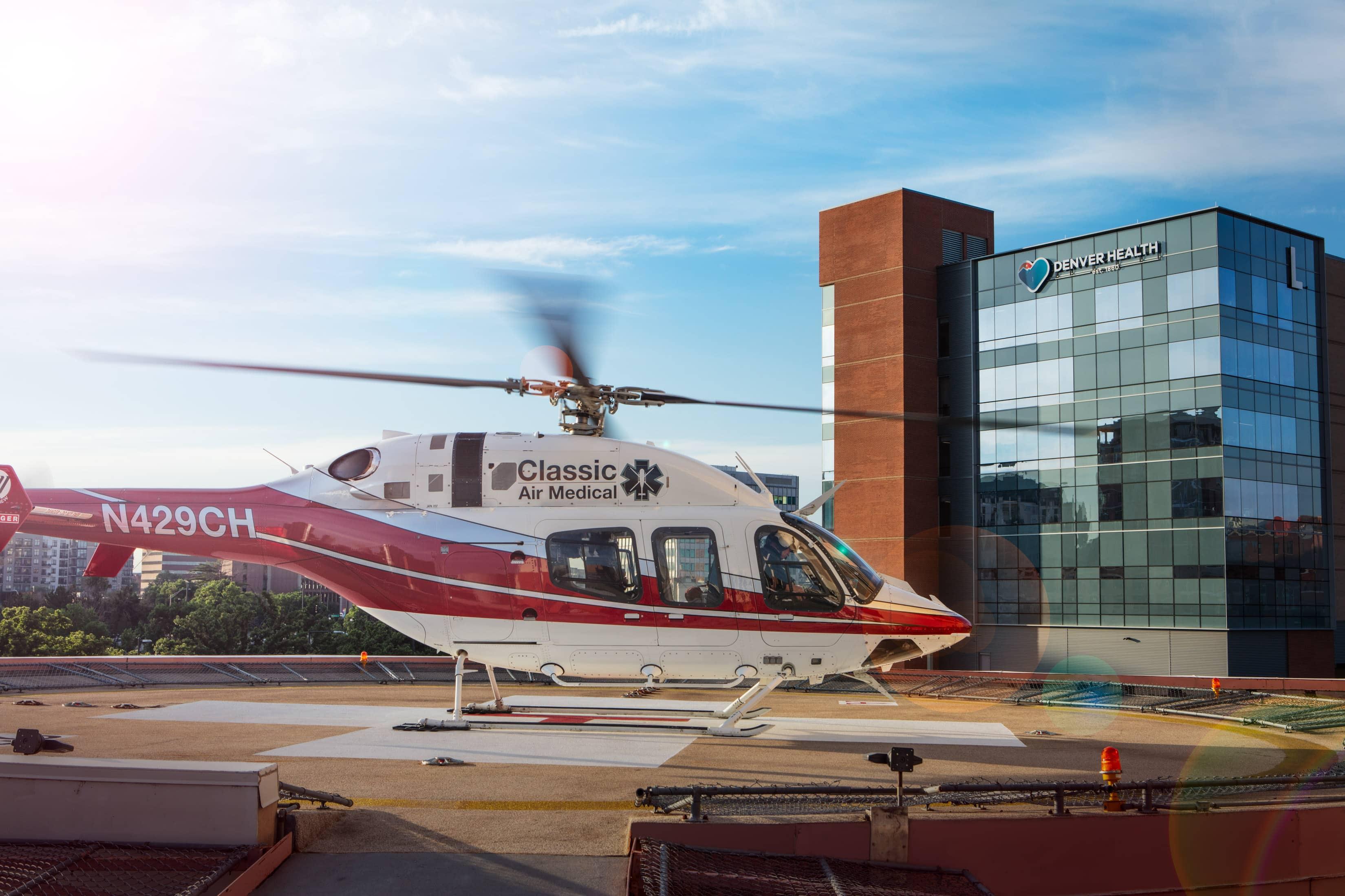 Denver Health hospital helicoper medivac