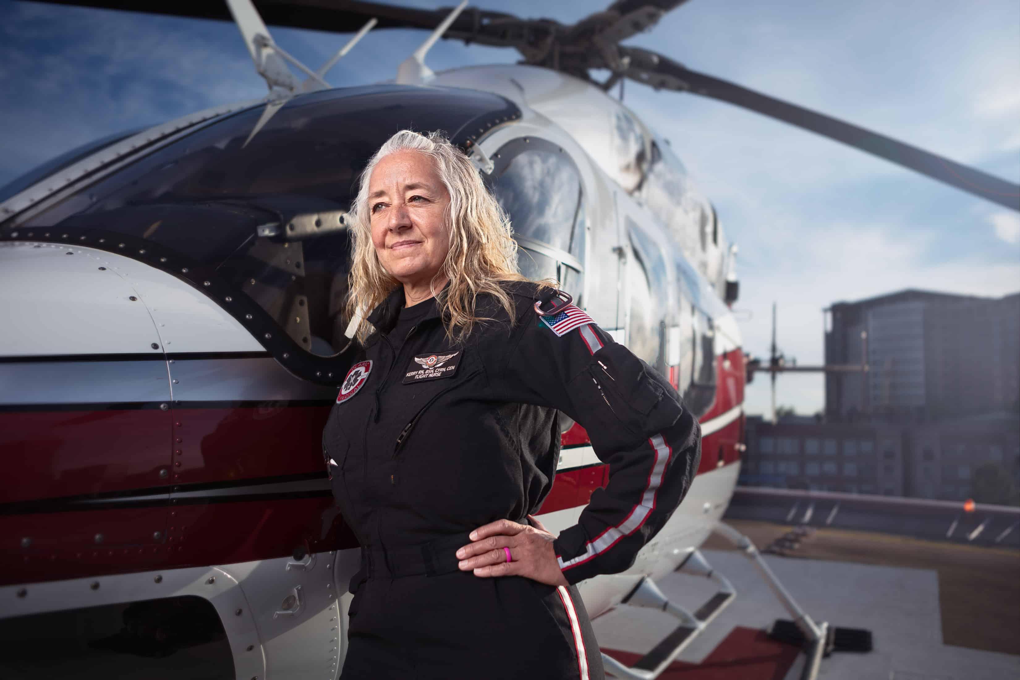 denver medivac helicopter pilot portrait